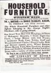 Auction Notice for George Taylor&#039;s Furniture